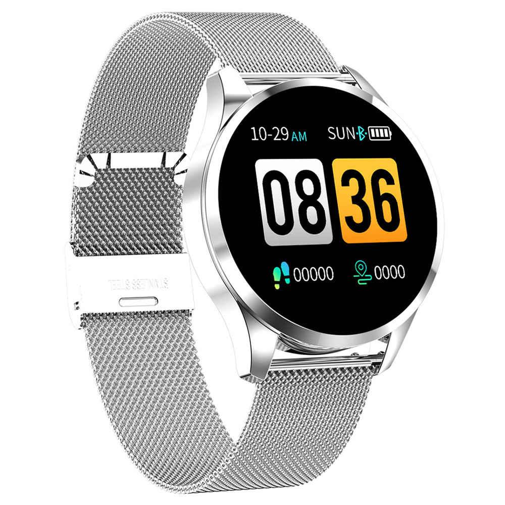 Makibes T5 Smart Watch 1.22 дюймовый TFT-экран IP67 Монитор артериального давления для измерения артериального давления 230mAh Батарея Стальной ремешок - серебристый