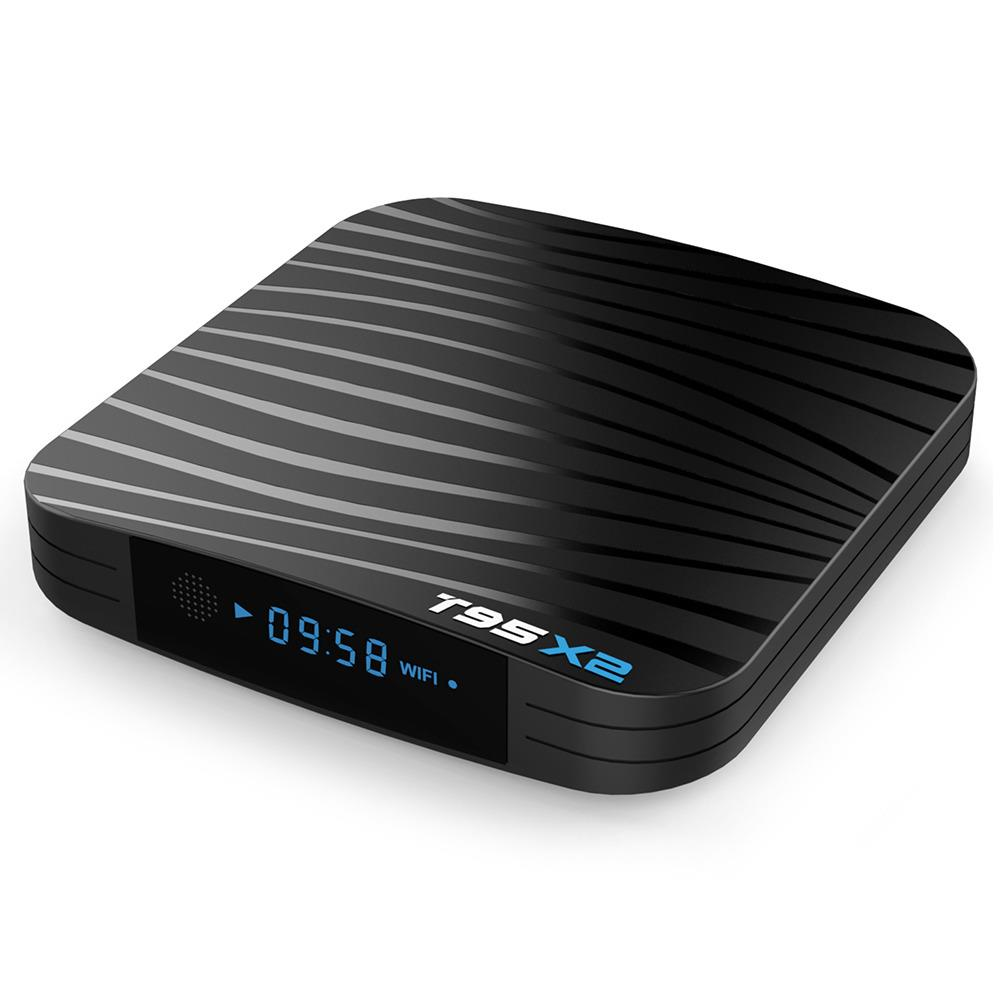 T95 X2 Amlogic S905X2 Android 8.1 4GB DDR4 64GB eMMC 4K TV Box Dual Band WiFi WiFi LAN Bluetooth