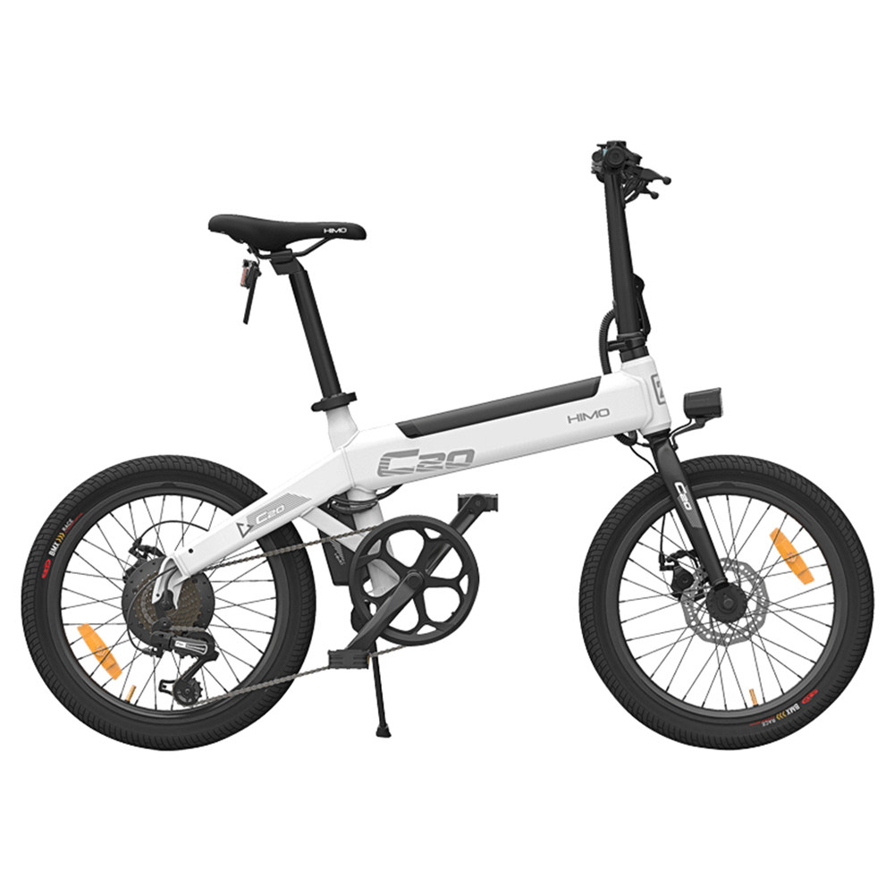 Xiaomi HIMO C20 Foldable Electric Moped Bicycle 250W Motor 25km/h Hidden Inflator Pump Shimano Variable Speed Drive - White