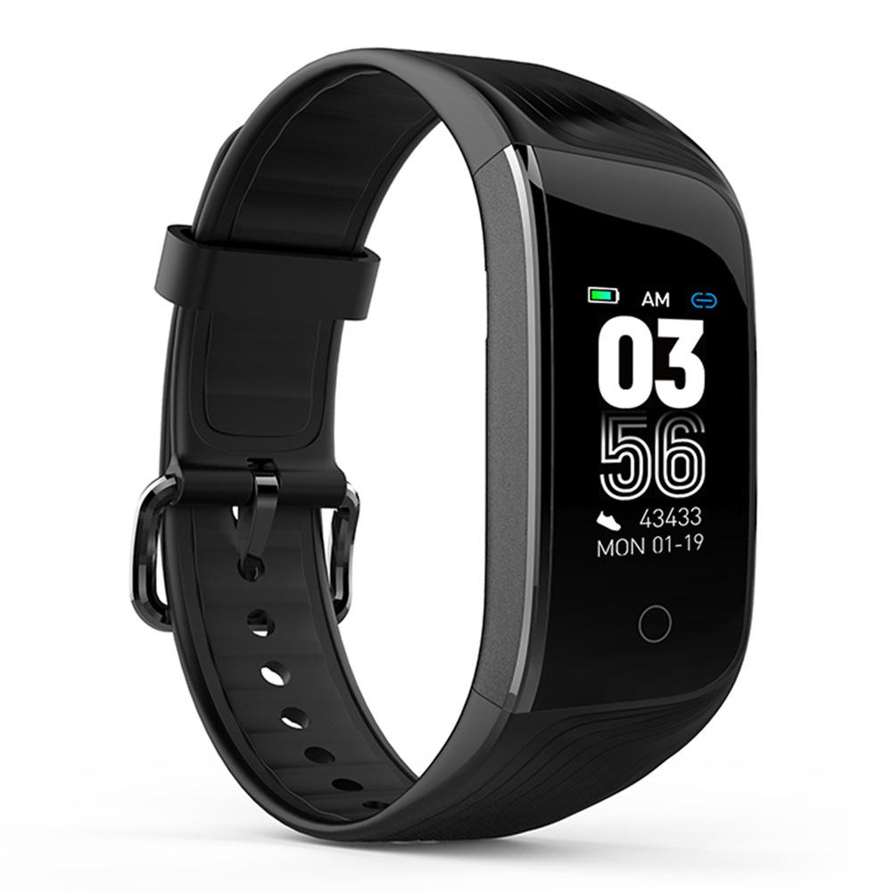 سوار اللياقة البدنية من ماكيبيس HR7 ، سوار اللياقة البدنية الذكي ، 0.96 Inch ، شاشة TFT لمراقبة معدل ضربات القلب ومراقبة النوم IP68 - أسود