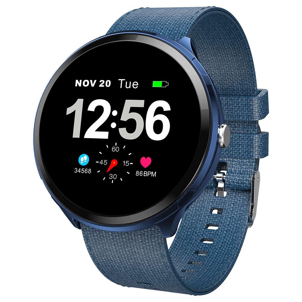 Makibes T4 Pro Smart Watch 1.3 дюймовый TFT-экран IP67 Монитор сердечного ритма Артериальное давление Кислородный монитор сна - Джинсовый синий