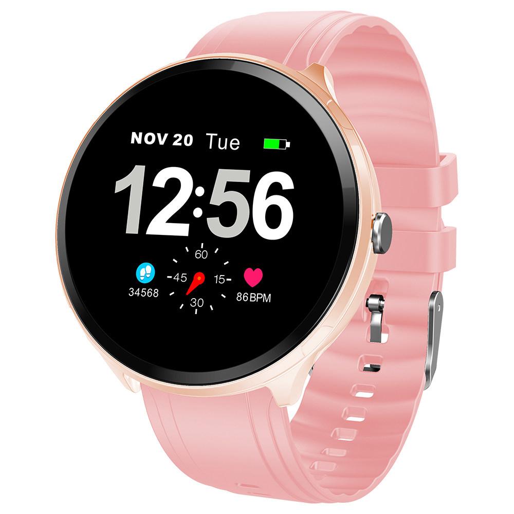 Μαξιλάρια T4 Pro Smart Watch 1.3 Inch TFT Οθόνη IP67 Πίεση της καρδιάς Πίεση αίματος Οξυγόνο Sleep Monitor Σιλικόνη λουράκι - ροζ