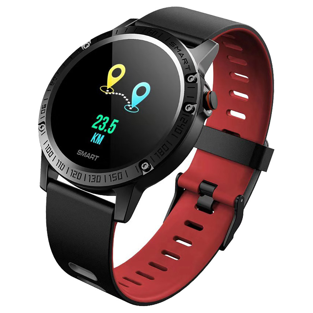 Makibes T6 Pro Smart Watch 1.3 Inch IPS Screen Heart Rate Blood Pressure Monitor IP68 Multiple Sports Modes - Red