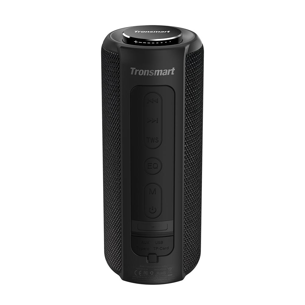 Tronsmart Element T6 Plus Altoparlante portatile Bluetooth 5.0 con uscita Max 40W, bassi profondi, impermeabile IPX6, TWS - Nero