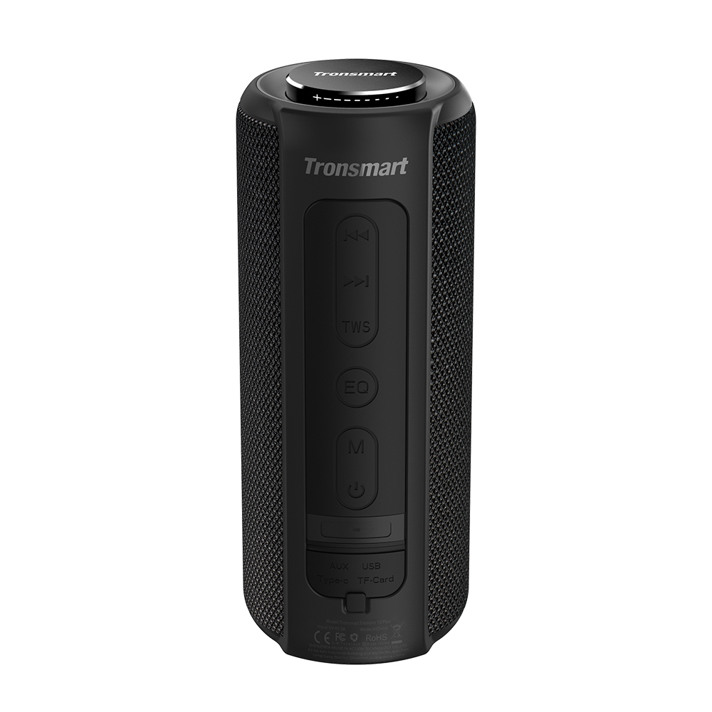Tronsmart Element T6 Plus Portable Bluetooth 5.0 Speaker with 40W Max Output, Deep Bass, IPX6 Waterproof, TWS - Black
