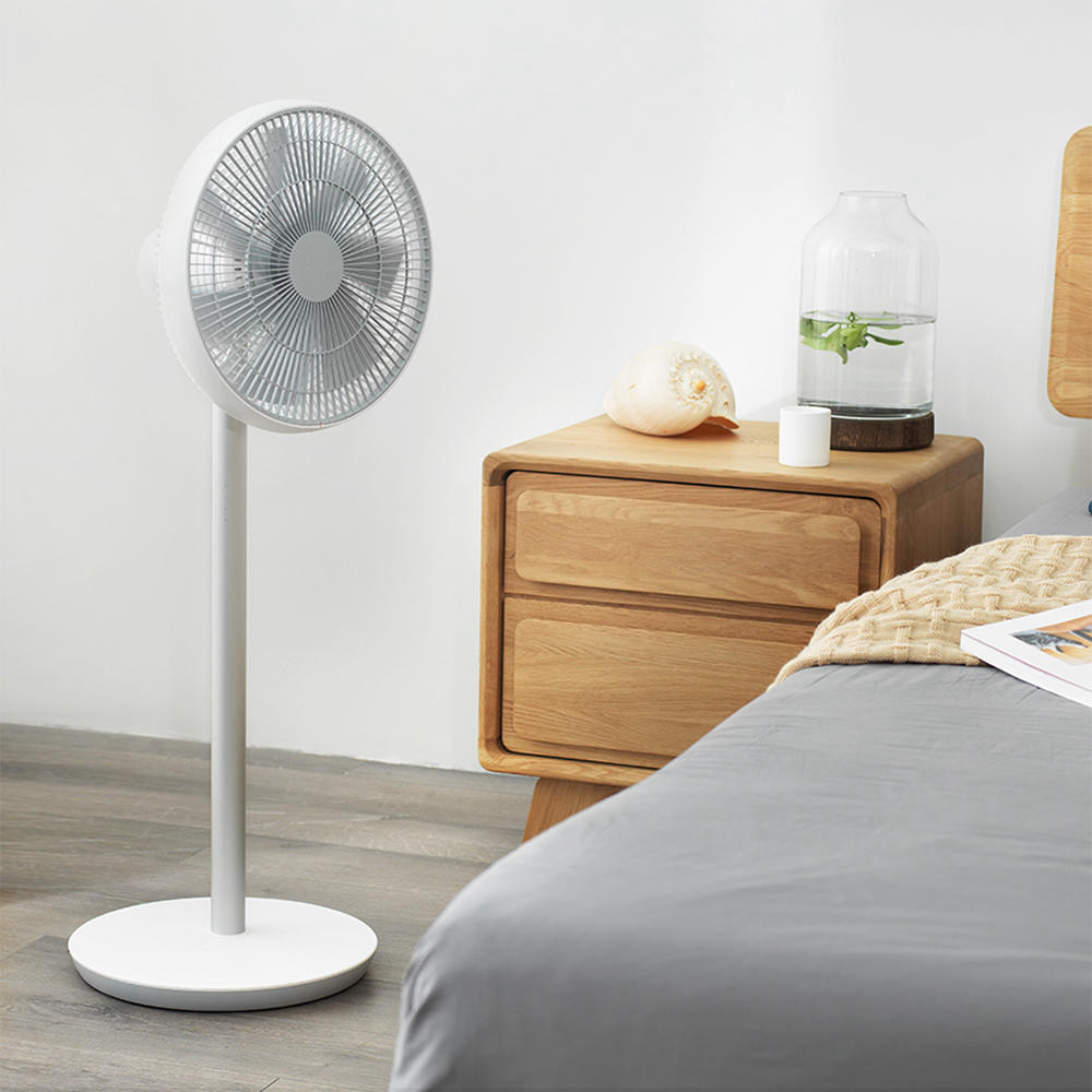 Xiaomi Smartmi Smart Vertical Floor Fan 2 Natural Wind DC Frequency Portable Electric Standing Fan with MIJIA APP Control - White (Without Battery)