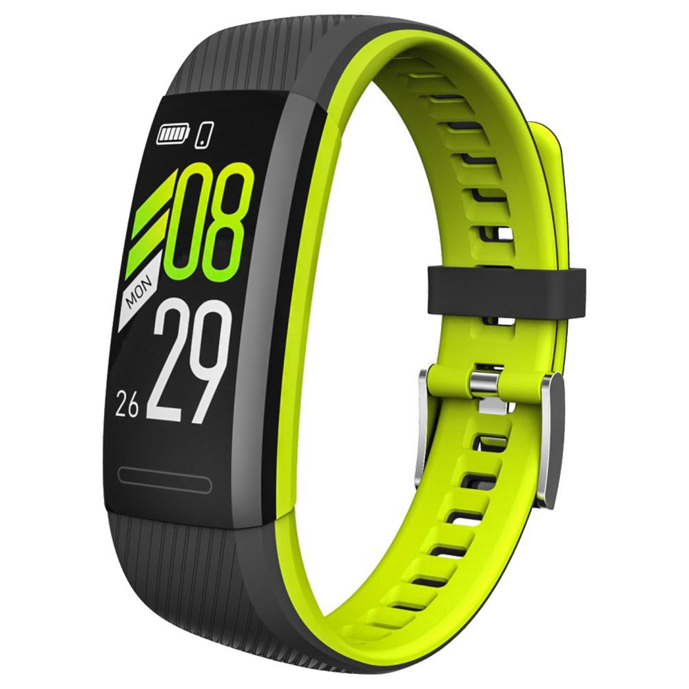 Makibes SR1 سوار ذكي 0.96 بوصة شاشة LCD رصد معدل ضربات القلب النوم IP68 الفرقة ماء دعم Strava - الأخضر