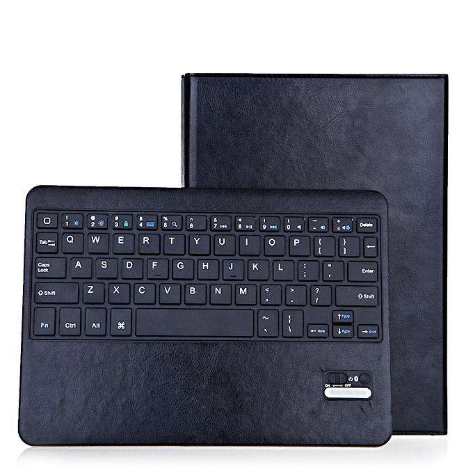 ซองหนังคีย์บอร์ด Bluetooth ไร้สายแบบชาร์จพร้อมขาตั้งสำหรับ iPad Air 2 - สีดำ