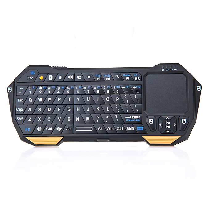 Mini Portable Wireless Bluetooth Keyboard with Multi-Touch Pad Mouse фото