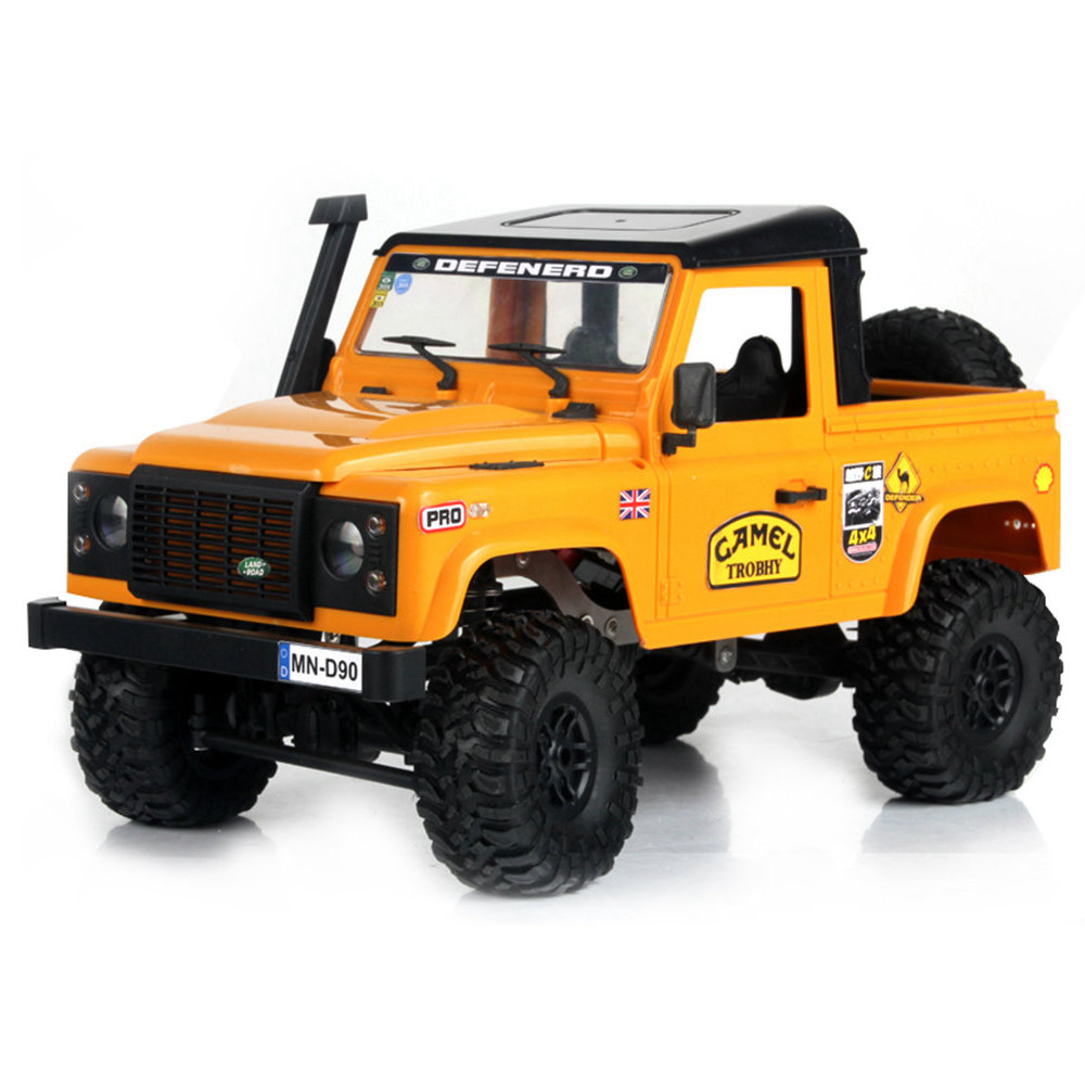 Modello MN MN-91 1 / 12 2.4G 4WD Arrampicata fuoristrada Short Truck con LED Light RC Car RTR - Giallo