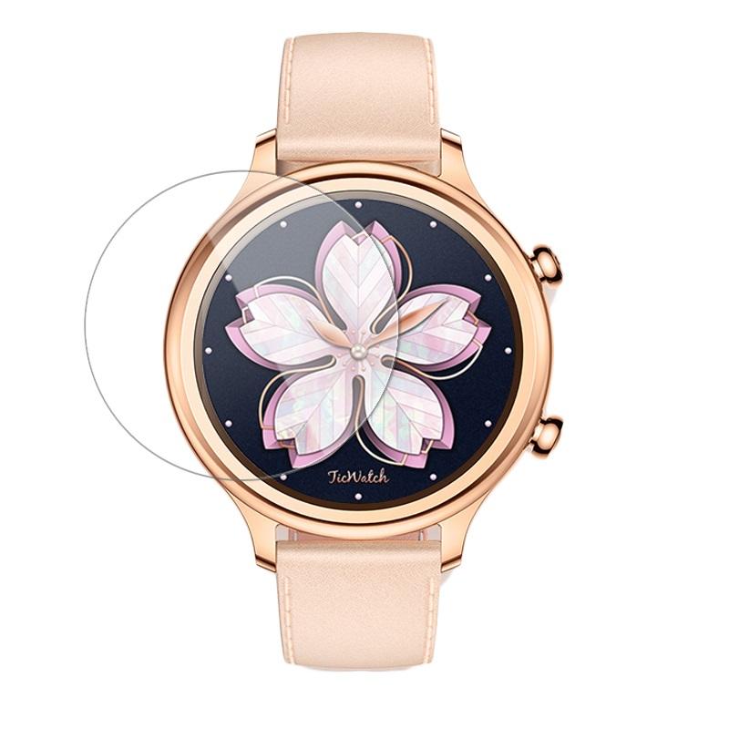 Schutzfolie Hartglas-Rand für Ticwatch C2 Smartwatch - Transparent