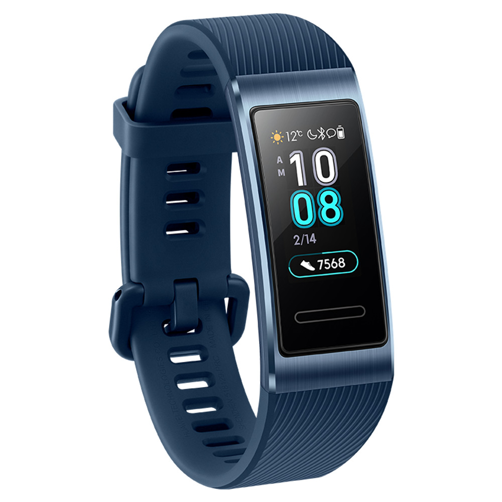 Huawei Band 3 Pro Smart Bracelet 0.95 Inch AMOLED Screen Built-in GPS Heart Rate Sleep Monitor 5ATM Swimming Posture Recognition - Blue