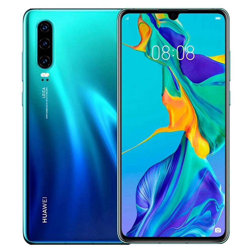 HUAWEI P30 CN Versione 6.1 pollici Smartphone 4G LTE Kirin 980 8 GB 128 GB 40.0 MP + 16.0 MP + 8.0 MP Fotocamere posteriori triple Android 9.0 NFC In-display impronte digitali Carica veloce - Aurora
