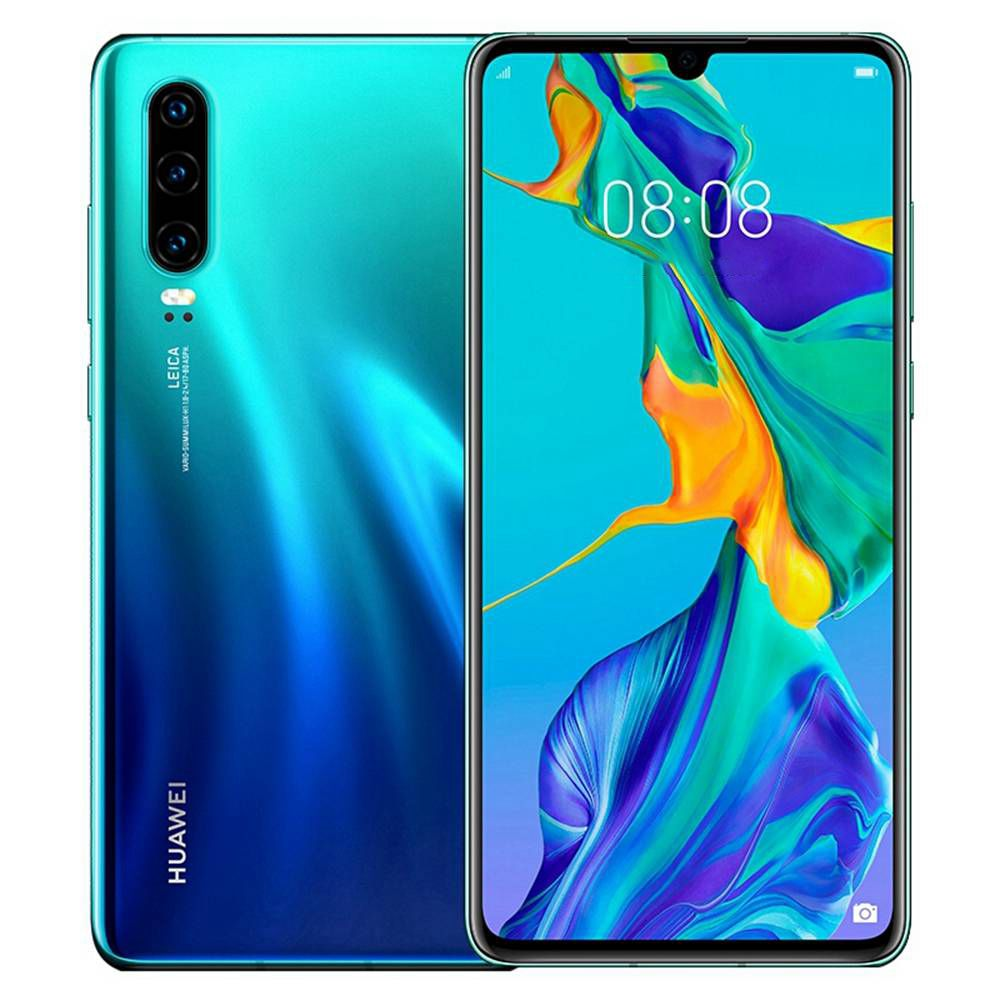 HUAWEI P30 CN Version 6.1 بوصة 4G LTE Smartphone Kirin 980 8GB 256GB 40.0MP + 16.0MP + 8.0MP Triple Rear Cameras Android 9.0 NFC Fingerprint Fast Charge - Aurora
