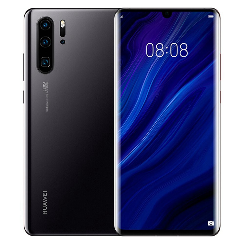 HUAWEI P30 Pro 6.47 Pouce 4G LTE Smartphone Kirin 980 8GB 128GB 40.0MP + 20.0MP + 8.0MP + TOF Quad Arrière Caméras Arrière Android 9.0 NFC In-display NFC Charge Charge Sans Fil - Noir