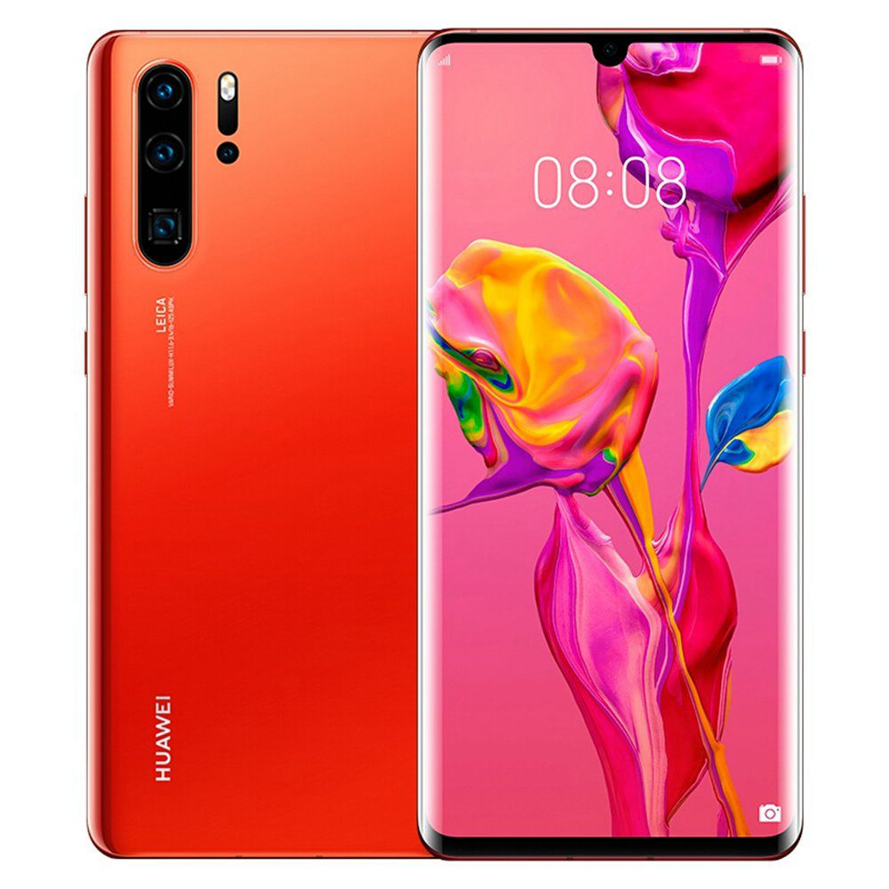HUAWEI P30 Pro CN Version 6.47 Inch 4G LTE Smartphone Kirin 980 8GB 512GB 40.0MP + 20.0MP + 8.0MP + TOF Quad Rear Cameras Android 9.0 NFC - Fingerprint Wireless Charge - Finger Amber Sunrise