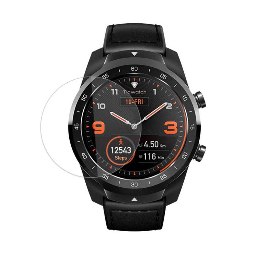 Védőképernyős fólia edzett üvegív él a Ticwatch Pro Smartwatch - átlátszóhoz