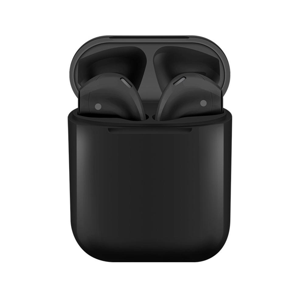 i12 TWS Bluetooth 5.0 fülhallgatók Érintésvezérlés Stereo Sound Standard Edition - fekete