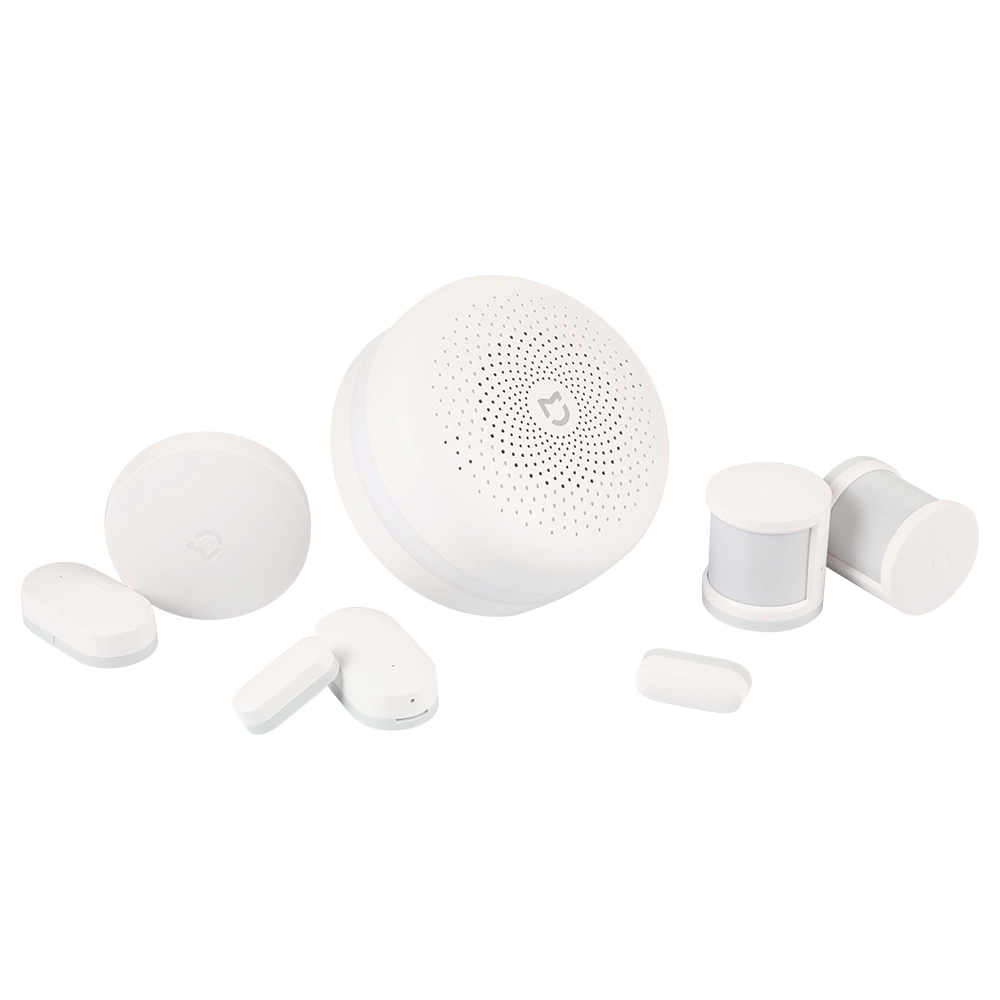 Xiaomi Mijia Smart Sensor Set Hub di controllo + Sensore di movimento + Sensore per porte e finestre + Interruttore wireless - Bianco