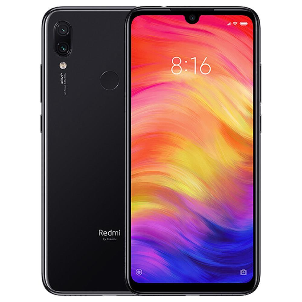 Xiaomi Redmi Note 7 6.3 Inch 4G LTE Smartphone Snapdragon 660 4GB 128GB 48.0MP+5.0MP Dual AI Cameras MIUI 10 Type-C Quick Charge IR Remote Control Global Version - Black