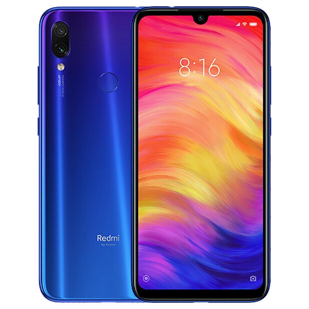 Xiaomi Redmi Note 7 6.3 Inch 4G LTE Smartphone Snapdragon 660 4GB 128GB 48.0MP+5.0MP Dual AI Cameras MIUI 10 Type-C Quick Charge IR Remote Control Global Version - Blue