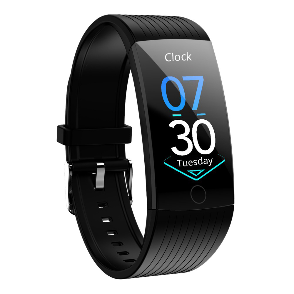 Makibes HR8 Smart Bracelet 1.14 Inch IPS Schermo a colori IP68 Water Resistant Heart Rate Blood Pressure - Nero
