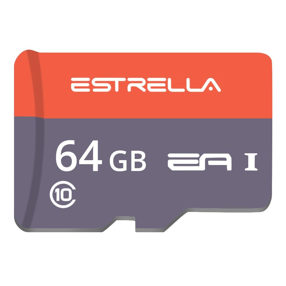 ESTRELLA Class10 Micro SD Memory Card TF for Phones Tablet 64G