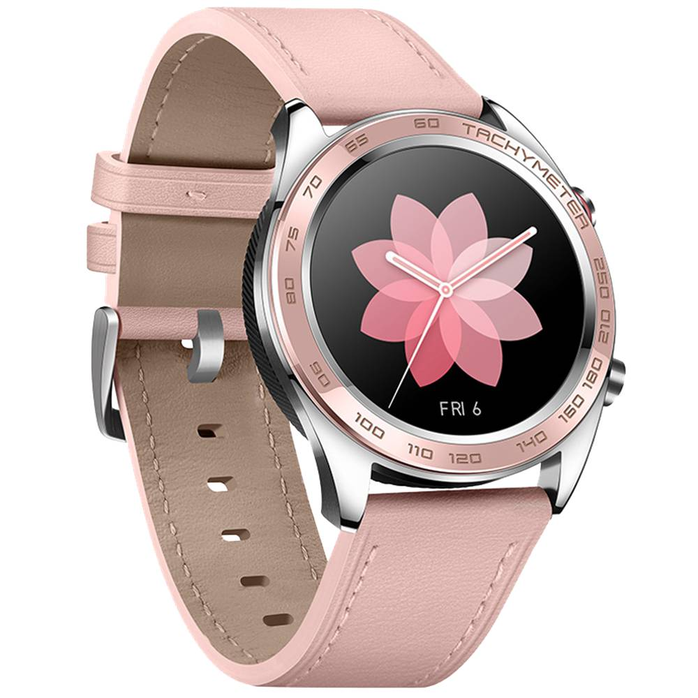 Huawei Honor Dream Smart Watch 1.2 Inch AMOLED Color Screen Built-in GPS NFC Payment Heart Rate Monitor 5ATM Waterproof Ceramic Bezel - Pink