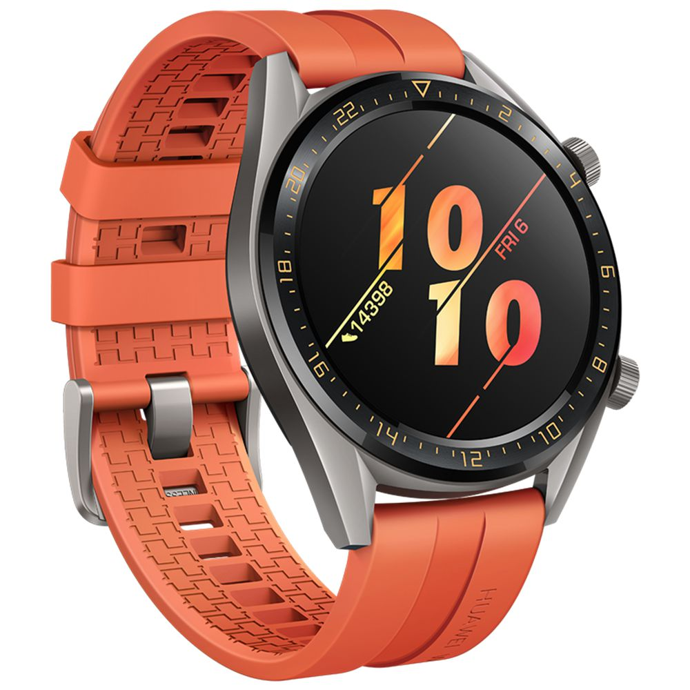 HUAWEI WATCH GT Active Sports Smartwatch 1.39 Inch AMOLED Colorful Screen Heart Rate Monitor Built-in GPS - Orange
