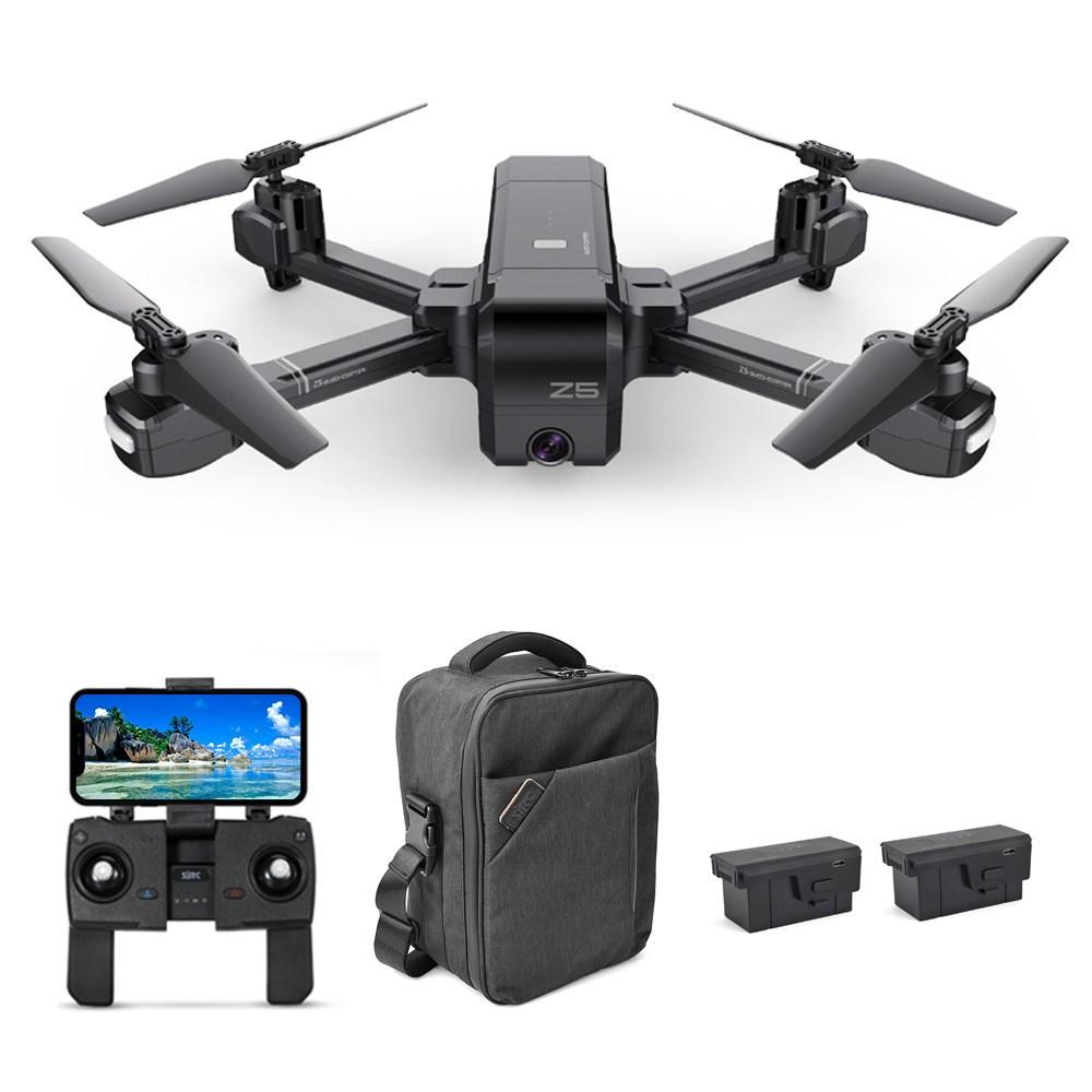 SJRC Z5 1080P FHD GPS 5G WiFi FPV Πτυσσόμενο RC Drone Ακολουθήστε Me Mode RTF Μαύρο - Τρεις Μπαταρίες