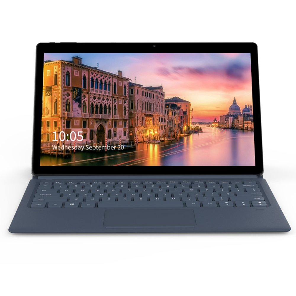 ALLDOCUBE KNote GO Tablet PC Intel ApolloLake N3350 Dual Core (Grau) + Alldocube CUBE CDK13 Magnetic Docking Keyboard (Blau)