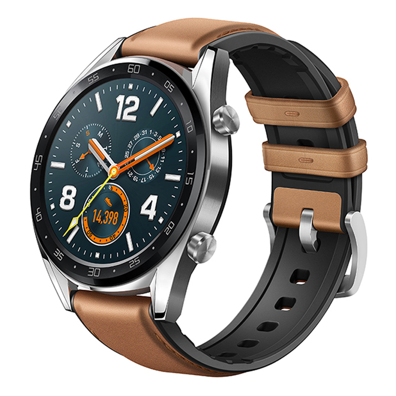 HUAWEI WATCH GT Classic Smart Watch 1.39 Inch AMOLED Colorful Screen Heart Rate Monitor Built-in GPS - Brown