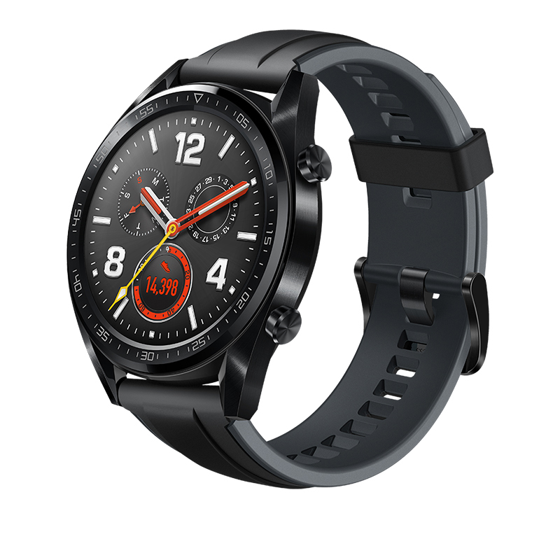 HUAWEI WATCH GT Sports Smart Watch 1.39 Inch AMOLED Colorful Screen Heart Rate Monitor Built-in GPS - Black
