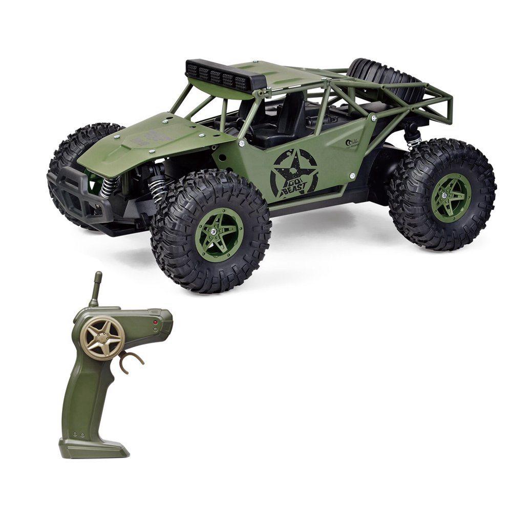 Subotech BG1527 การต่อสู้มังกร 1 / 16 2.4G 2WD ความเร็วสูง Buggy ทะเลทราย RC รถ RTR - สีเขียว