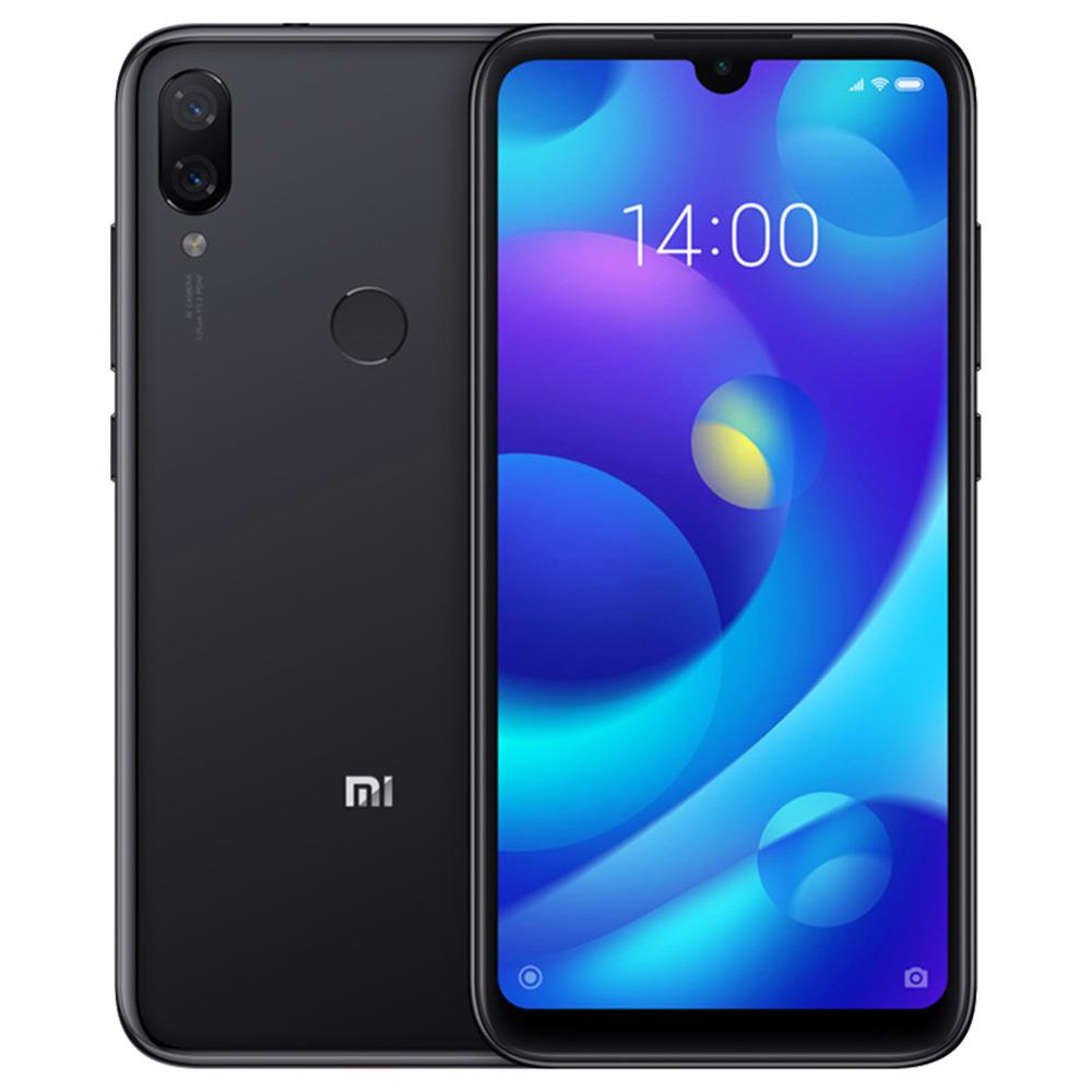 Xiaomi Mi Play 5.84 Inch 4G LTE Smartphone Helio P35 4GB 64GB 12.0MP+12.0MP Dual Rear Cameras MIUI 10 Touch ID Global Version - Black