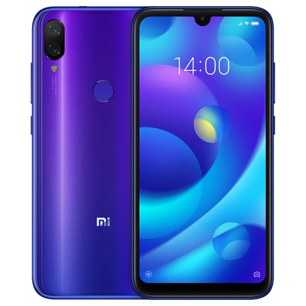 Xiaomi Mi Play 5.84 Inch 4G LTE Smartphone Helio P35 4GB 64GB 12.0MP+12.0MP Dual Rear Cameras MIUI 10 Touch ID Global Version - Blue