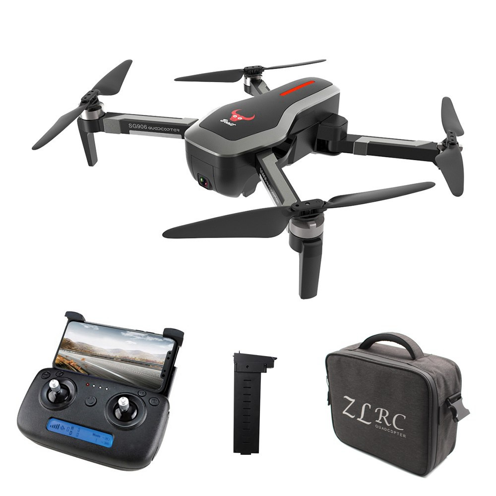 ZLRC SG906 Beast 4K Dual GPS 5G WiFi FPV Foldable RC Drone Optical Flow Positioning RTF Black - Two Batteries with Bag фото