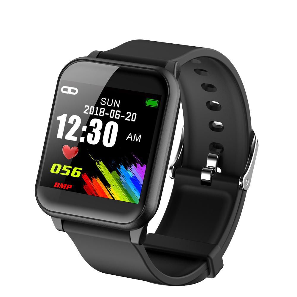 Makibes B02 Smartwatch 1.3 pollice quadrato TFT IP67 resistente all'acqua Tracker Fitness Blood Pressure Color UI Wristband - Nero