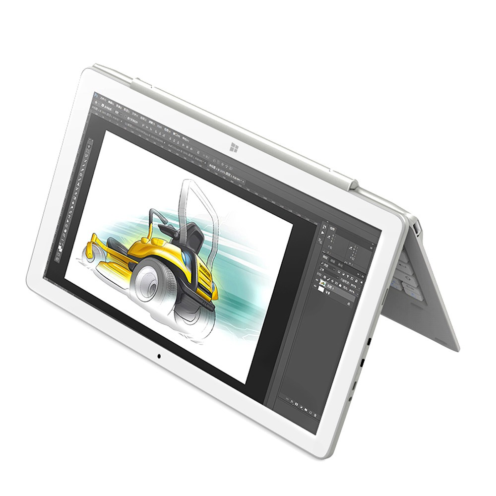 Alldocube Cube iWork10 Pro 2-in-1 Tablet Intel Cherry Trail Z8350 Quad Core (White + Silver) + Keyboard Docking Keyboard with Touch Touch (Silver)
