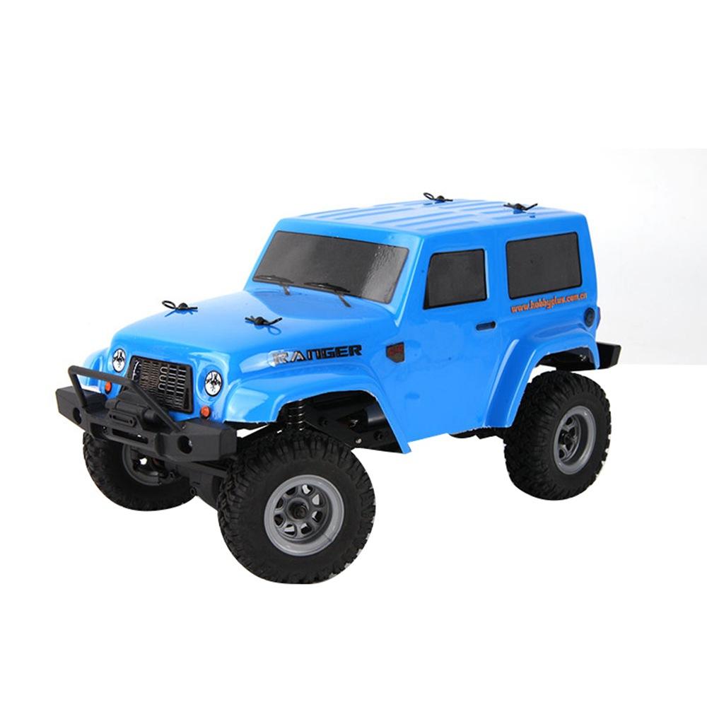 Hobby Plus CR-24レンジャー1 / 24 2.4G 4WDクローラーモデルクライミングビークルMINI RCカーRTR-ブルー