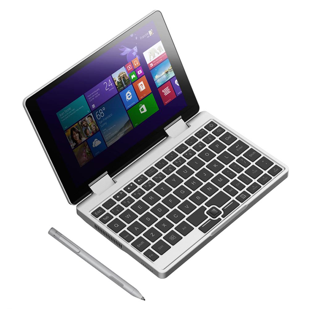 Topjoy Falcon 8 بوصة كمبيوتر محمول صغير Intel Pentium Silver N5000 رباعي النواة 8GB DDR4 RAM 256GB SSD Yoga Pocket Notebook ، فضي + 2048 Level Active Stylus Pen