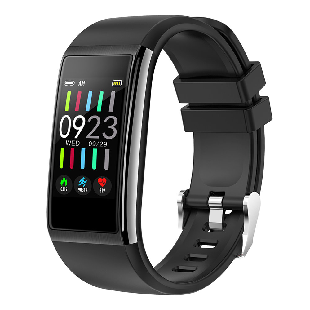 Makibes HR9 Smart Bracelet 1.14 Inch IPS Color Screen Continuous Heart Rate Monitor IP68 Water Resistant - Black