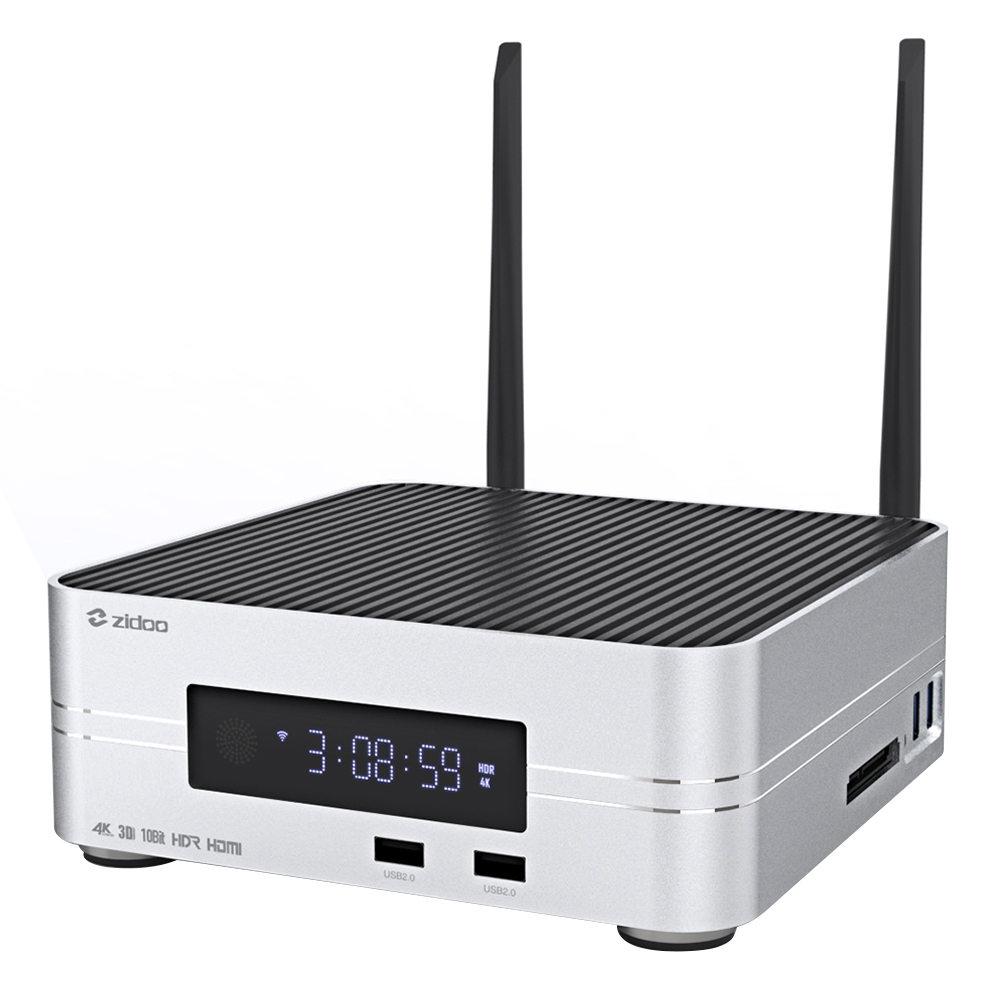 ZIDOO Z10 Realtek RTD1296ブルーレイメディアプレーヤーアンドロイド7.1 OpenWRT(NAS)2GB / 16GB 4K UHDテレビボックスデュアルバンドWiFiギガビットLAN SATA 3.0 USB 3.0ブルートゥース