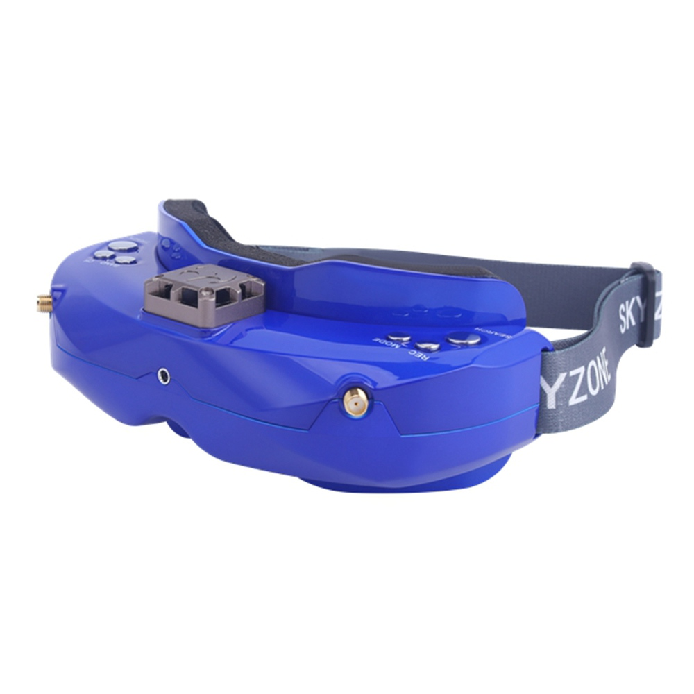 Skyzone SKY02X 5.8G 48CH True Diversity FPV Goggles Built-in Fan DVR Support 2D/3D HDMI IN For Racing Drone - Blue