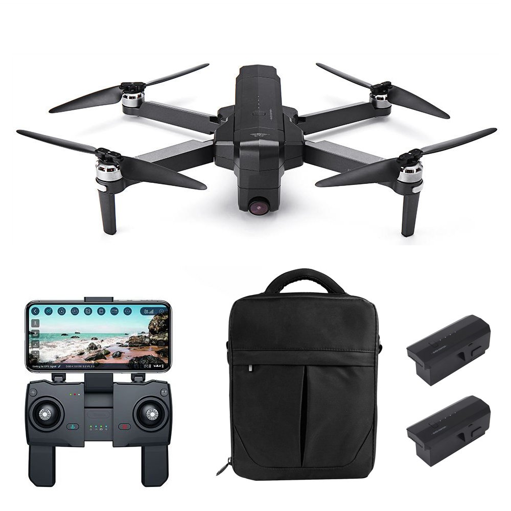 SJRC F11 PRO 2.7K GPS 5G WIFI FPV Foldable RC Drone With Adjustable Camera 28mins Flight Time RTF - Three Batteries With Bag