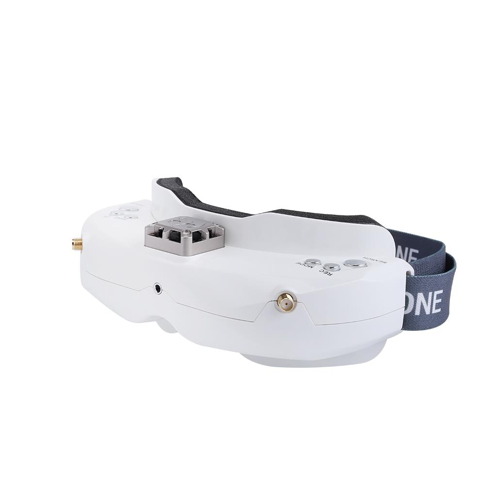 Skyzone SKY02C 5.8G 48CH True Diversity FPV Goggles Built-in Fan DVR Support HDMI IN For Racing Drone - White