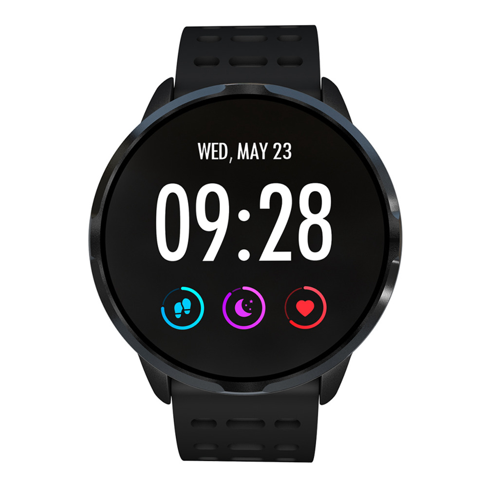 Makibes B05 Smart Watch 1.3 Inch IPS Screen Heart Rate Blood Pressure Monitor IP67 Fitness Tracker Smartband - Black