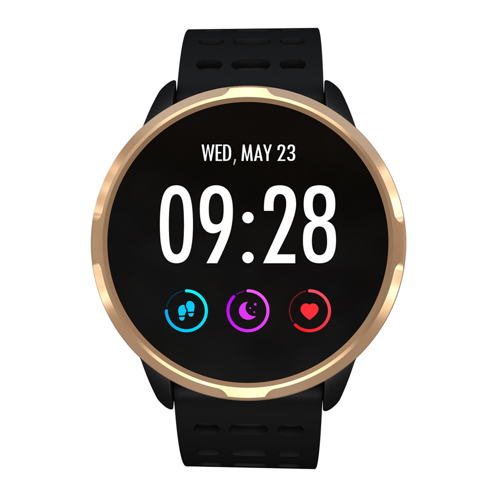 Makibes B05 Smart Watch 1.3 Inch IPS Screen Heart Rate Blood Pressure Monitor IP67 Fitness Tracker Smartband - Gold