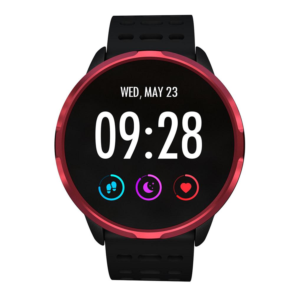 Makibes B05 Montre Smart Watch 1.3 Pouce IPS Écran Tensiomètre Cardio-fréquencemètre IP67 Fitness Tracker Smartband - Rouge