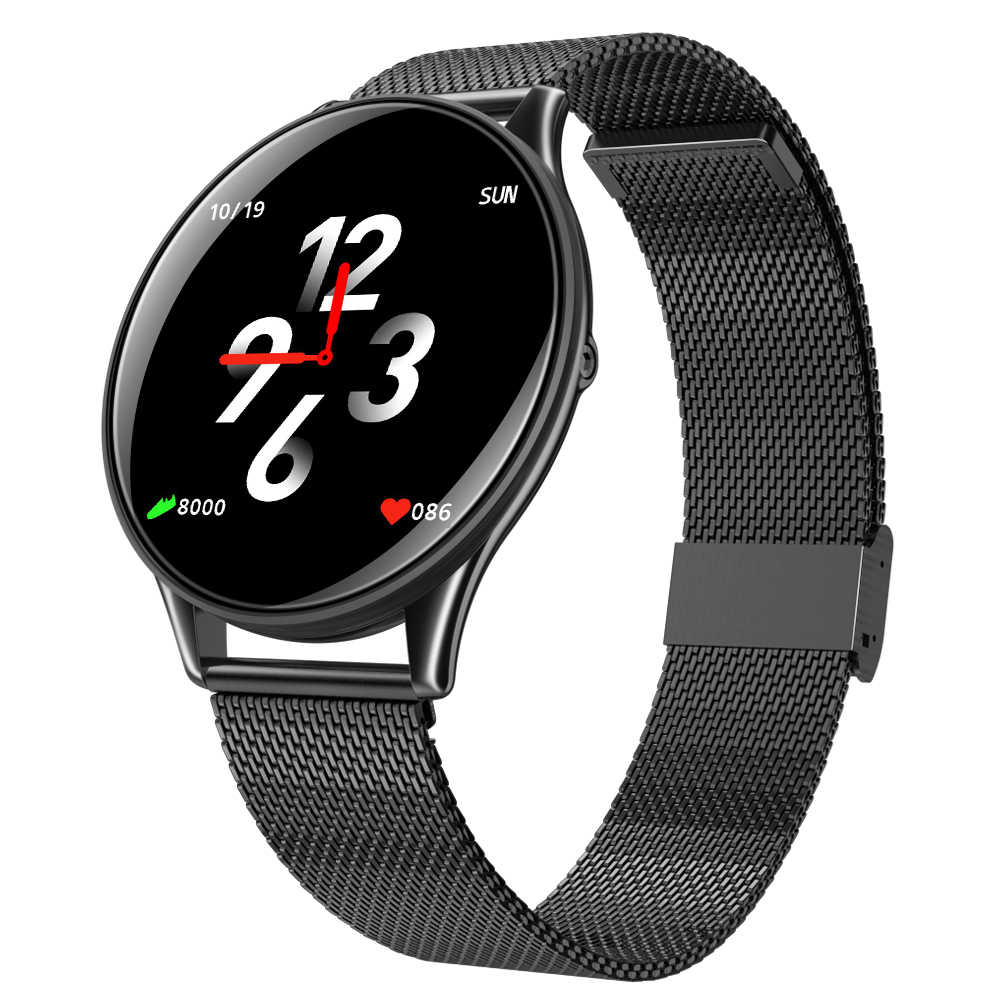 Makibes B06 Smart Watch 1.3 Inch IPS Screen Heart Rate Blood Pressure Monitor IP67 Fitness Tracker Smartband - Black